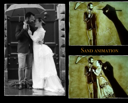 Wedding Sand Art – draw your love story in sand