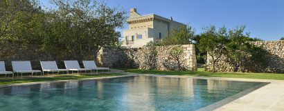 Soak in modern luxury at Puglia's small, stunning Masseria Salento!