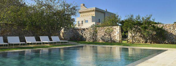 Soak in modern luxury at Puglia's small, stunning Masseria Salento!