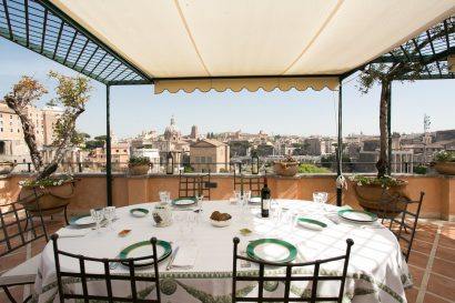 Foro Romano unique penthouse for stunning destination event