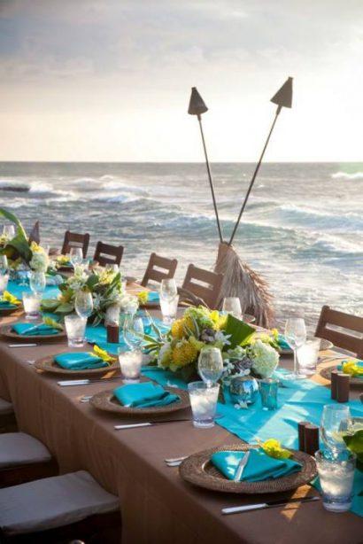 Destinations de rêve et idées décoration sur le thème pour votre mariage à la mer