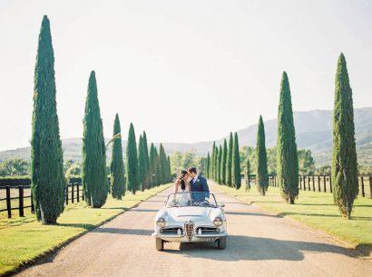 Lieu de mariage médiéval en Toscane