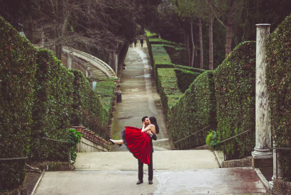 Destinations de mariage de rêve dans un cadre spectaculaire à Tivoli près de Rome.