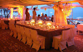 beach wed table