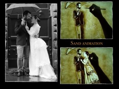 La 'sand animation' per il tuo matrimonio