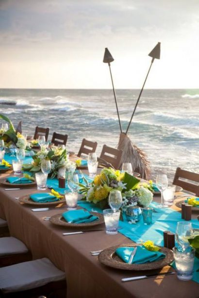 Destination Wedding da favola e decorazione sul tema del mare