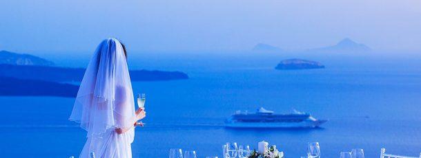 Santorini, un paesaggio da cartolina illustrata per il vostro matrimonio